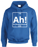 AH THE ELEMENT OF SURPRISE HOODIE - INSPIRED BY BENEDICT CUMBERBATCH SHERLOCK HOLMES